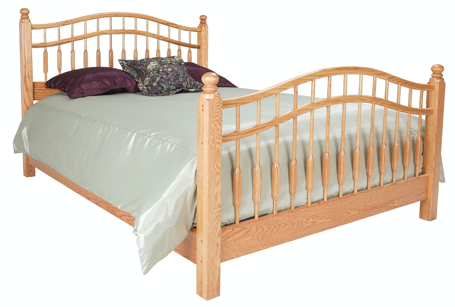 King size four poster spindle beds