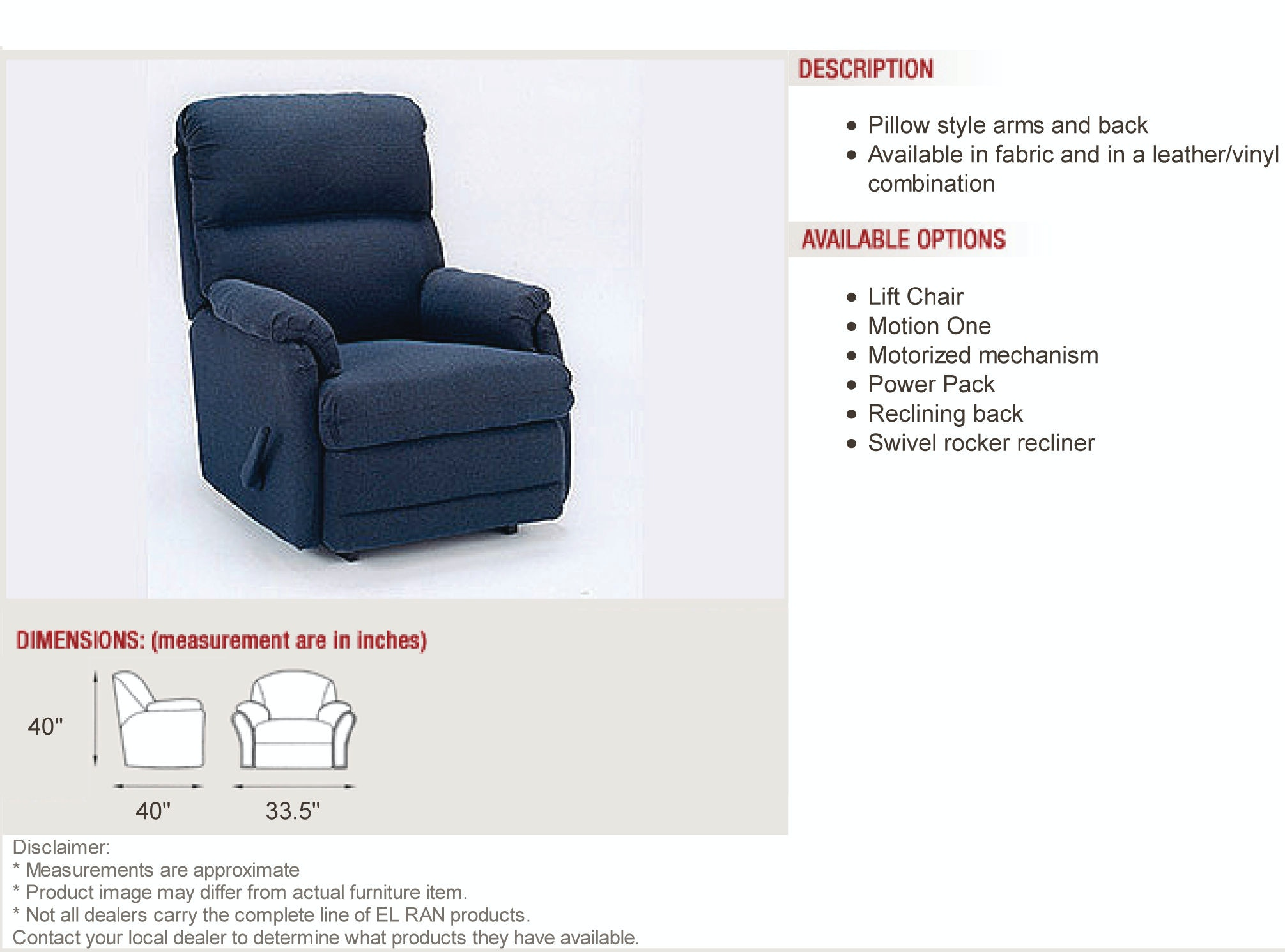 Elran Swivel Rocker Recliner ERC0012-03  sc 1 st  Borofkau0027s Furniture & Elran Living Room Swivel Rocker Recliner ERC0012-03 - Borofkau0027s ... islam-shia.org