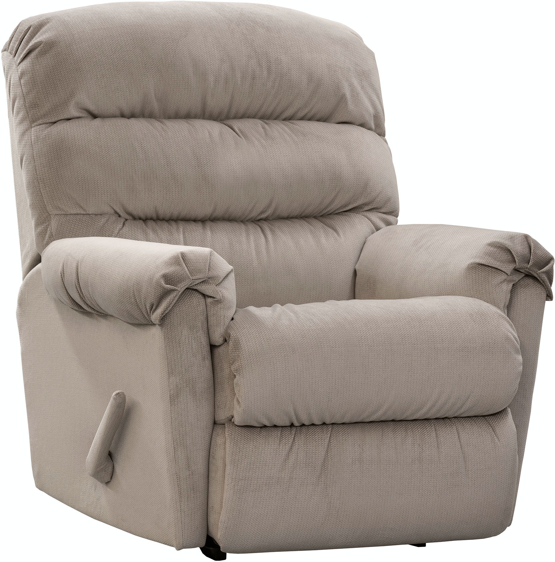 Swivel Rocker Recliner White Leather Swivel Recliner