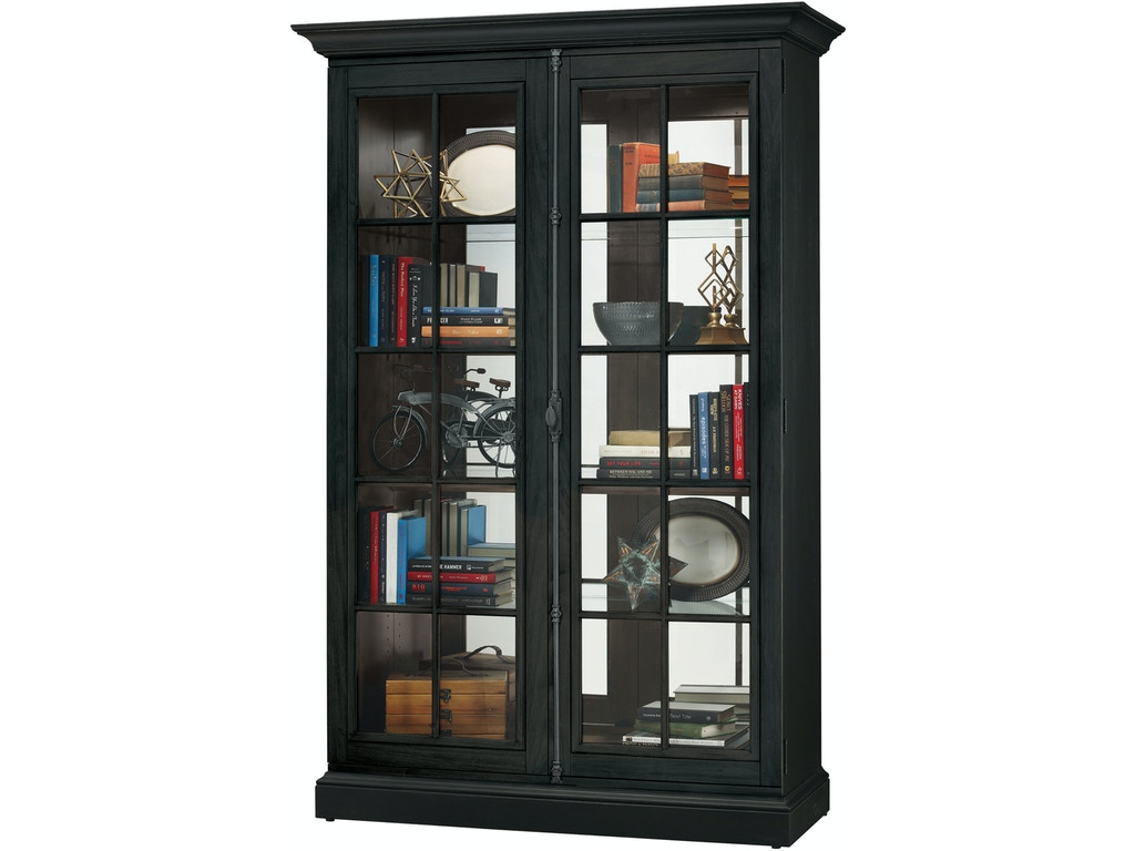 Howard Miller Living Room Clawson Iv Curio Cabinet 670023 Valley Furniture Company Havre Mt