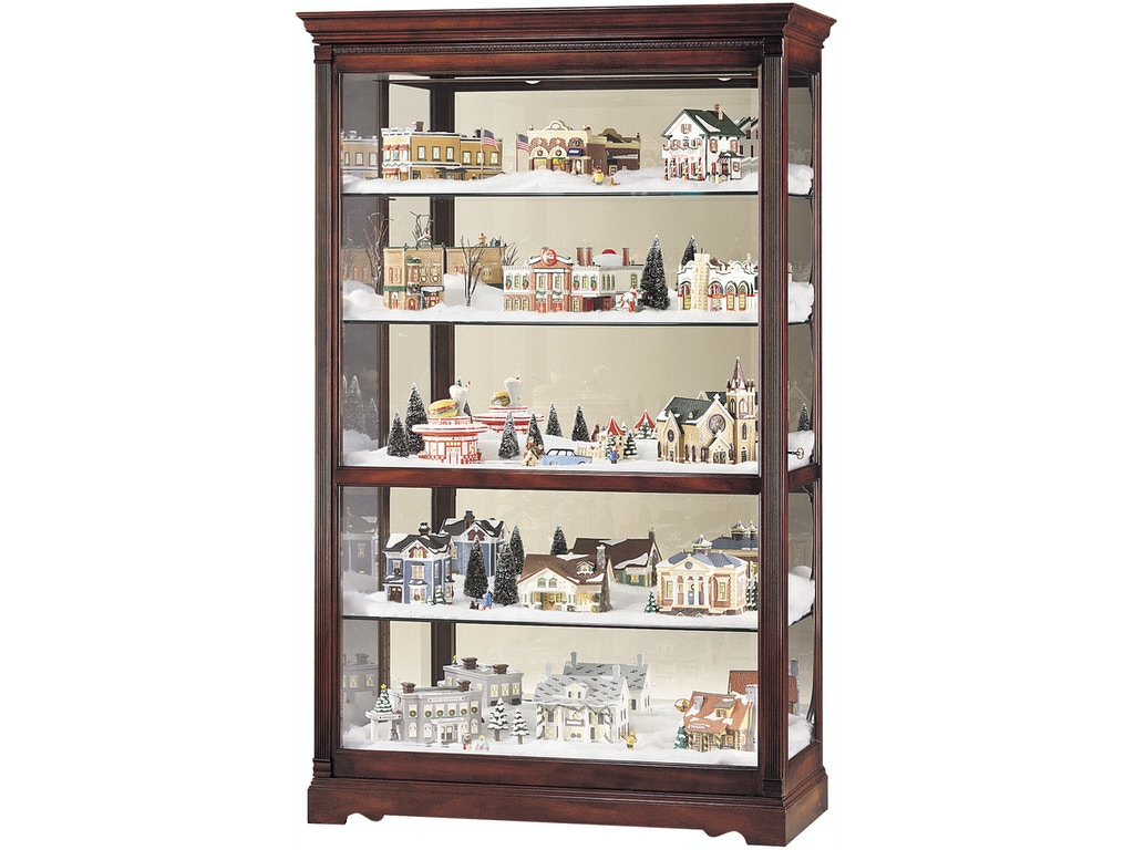 Howard miller living room townsend curio cabinet 680235 for Curio cabinet