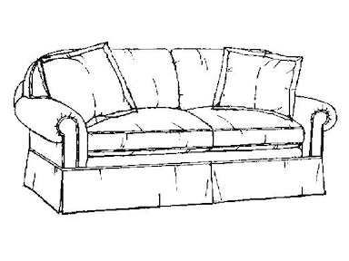 EJ Victor Highland Park Two Seat Sofa 264-80
