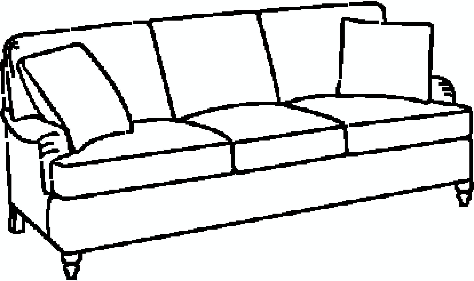 EJ Victor As You Like It English Arm Three Seat Sofa 574