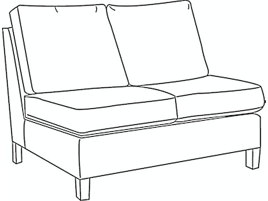EJ Victor As You Like It Two Seat Armless Loveseat 575-46