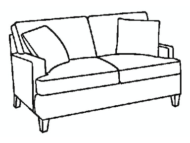 EJ Victor Living Room As You Like It Track Arm Loveseat