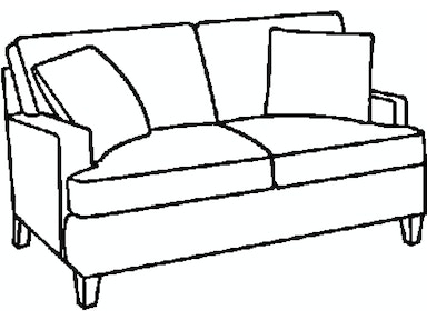 EJ Victor As You Like It Track Arm Loveseat 575-60