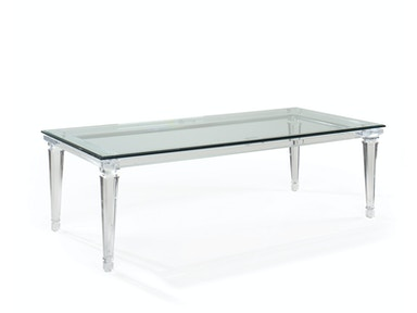 EJ Victor Dining Room Randall Tysinger Sancerre Acrylic Dining Table