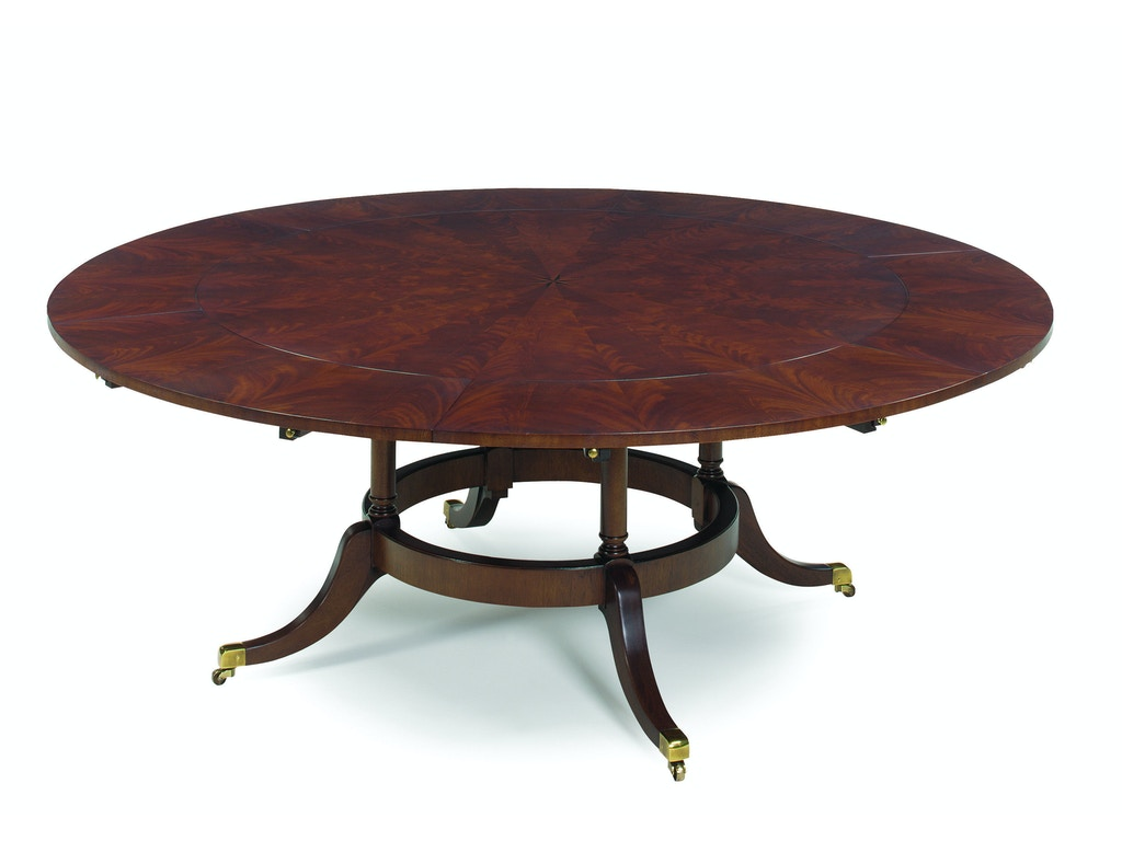 Ej victor dining room 60 39 39 round dining table with six for Table 6 greensboro nc