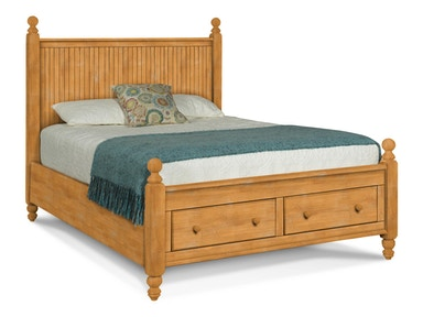 John Thomas Queen Cottage Storage Bed - Headboard, Footboard, Drawers and Storage Bed Rails BD-202QH / BD-202QF / BD-202QD / BD-202QR