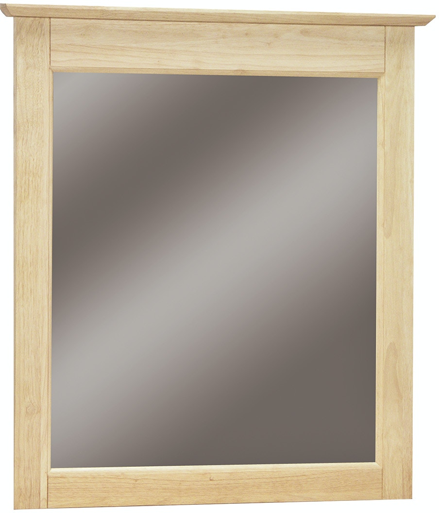 John Thomas Accessories Lancaster Mirror<br><br>Solid wood panel sides & full extension drawer glides