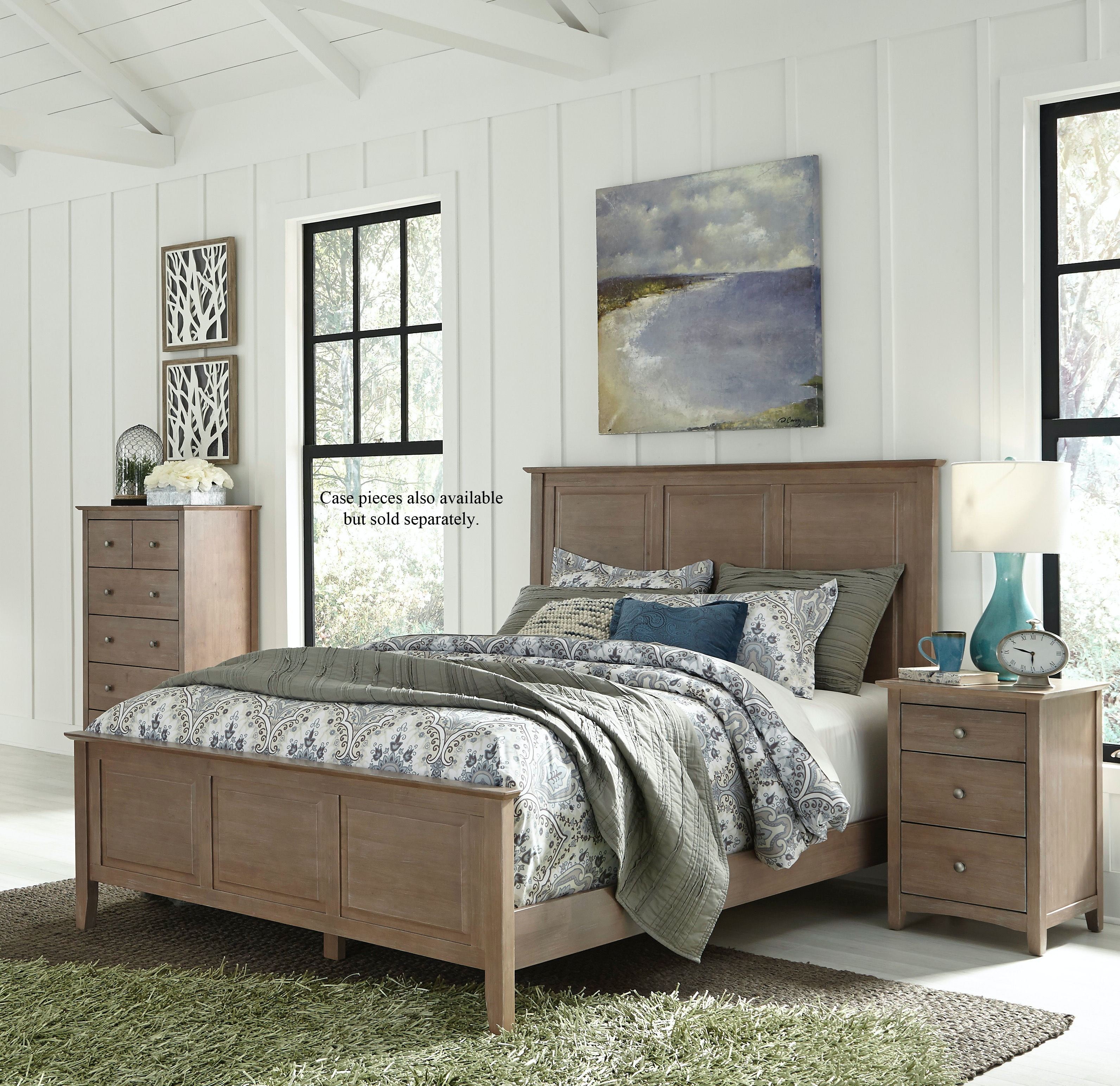 John Thomas Bedroom Queen Panel Bed In Taupe Gray