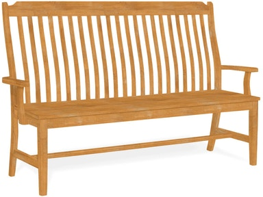 John Thomas Dining Room Steambent Mission Bench w/ Arms