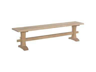 John Thomas Live Edge Trestle Bench BE-7214TA / BE-7214TB