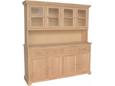 John Thomas 4 Door Hutch (shown w/ B-4) H-4B