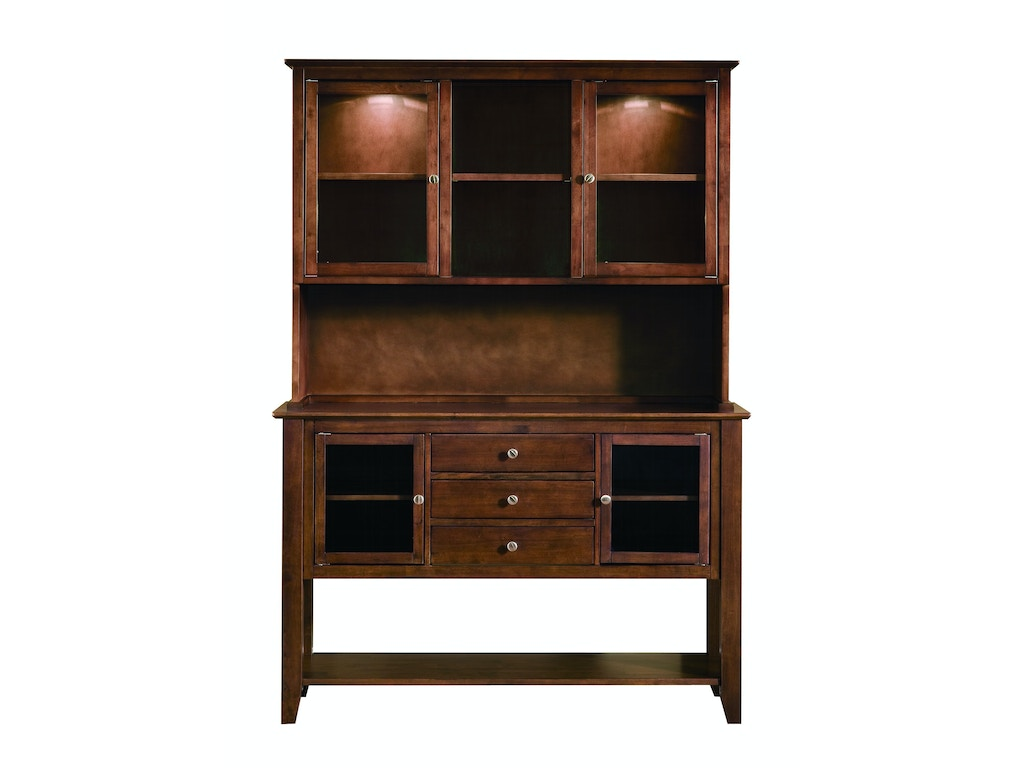 John Thomas Dining Room Server With Hutch In Espresso H581