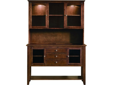 John Thomas Server with Hutch in Espresso H581-34 / SV581-34