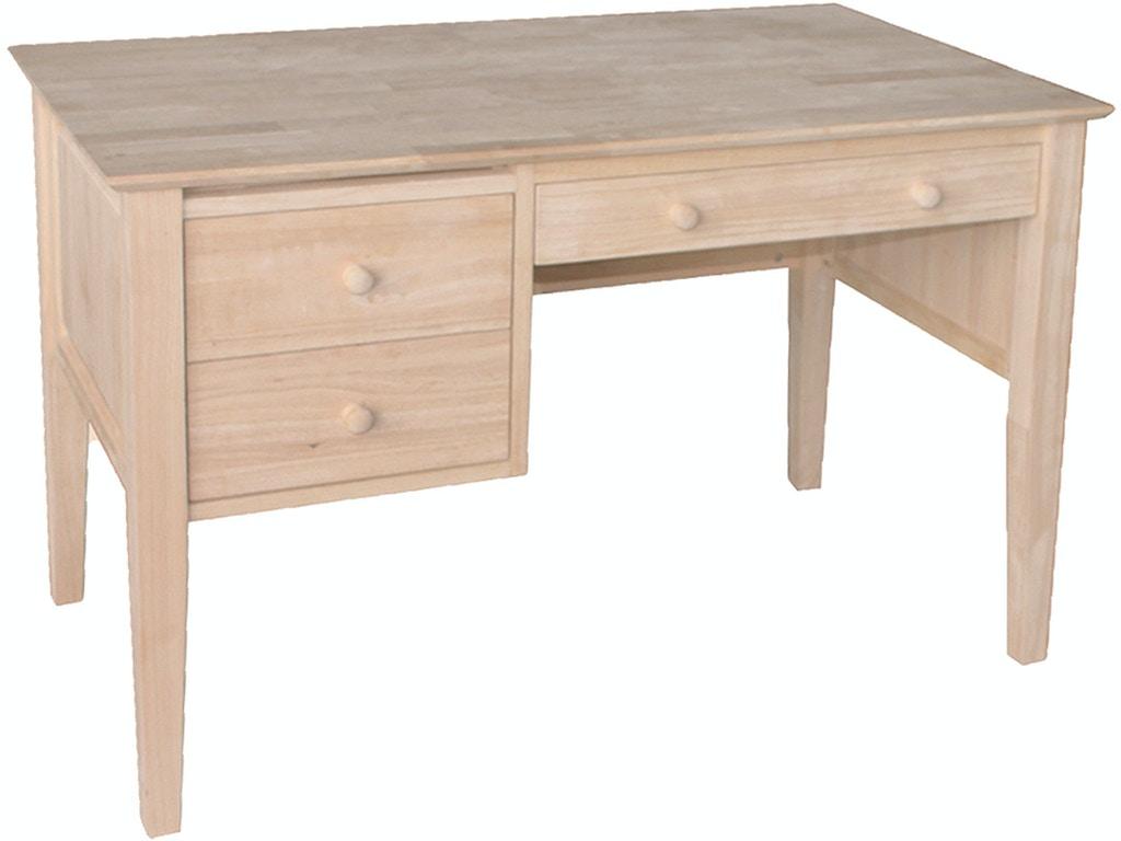 John Thomas Home Office 2 Drawer Lancaster Shaker Desk Of