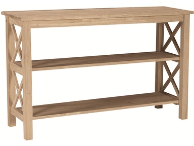 John Thomas Living Room Hampton Sofa Table<br><br>Removable center shelf