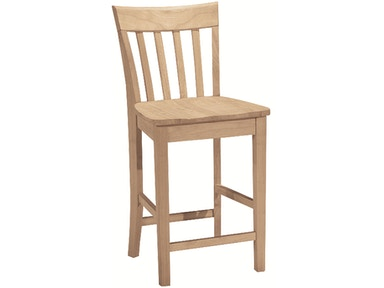 John Thomas Bar and Game Room 24'' Slatback<br><br>30''H stool available