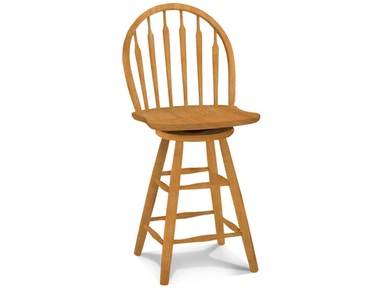 John Thomas Bar and Game Room 24'' Arrowback Windsor<br><br>Wood seat only, 30''H stool available