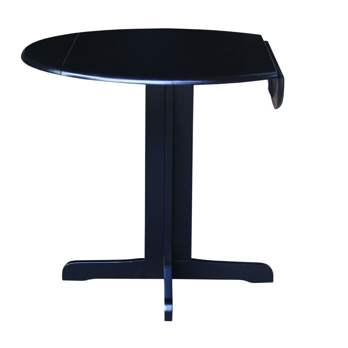 John Thomas Round Dropleaf Pedestal Table In Black T46 36RP