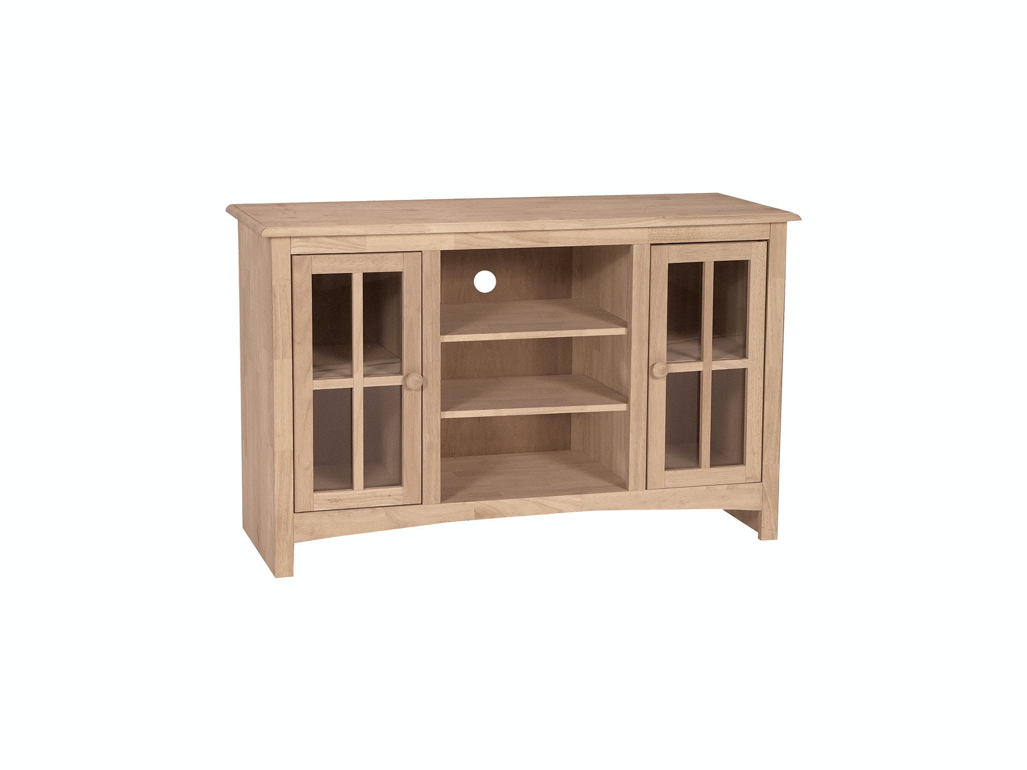 John Thomas Home Entertainment 48'' TV Stand<br><br>Four adjustable shelves
