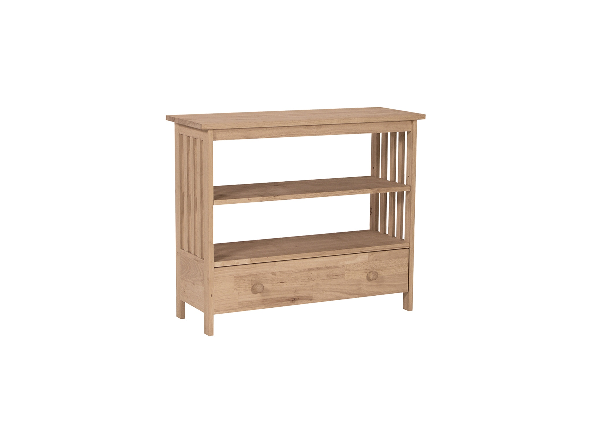 John Thomas Home Entertainment 36'' Mission Entertainment Stand<br><br>One adjustable shelf & extension glides