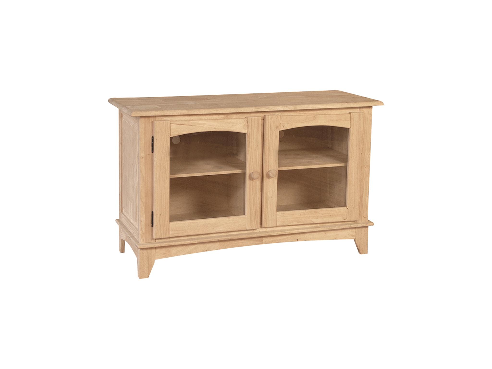 John Thomas Home Entertainment 2-Door Entertainment Center<br><br>Two adjustable shelves