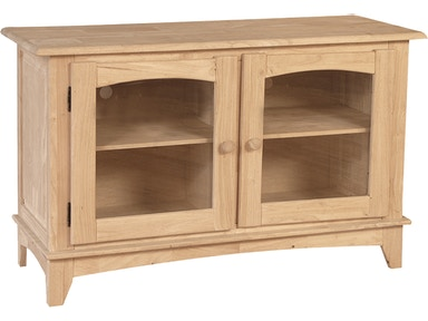 John Thomas Home Entertainment 2-Door Entertainment Center<br><br>Two adjustable shelves