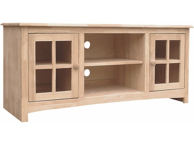 John Thomas Home Entertainment Franklin Entertainment Center<br><br>Three adjustable shelves