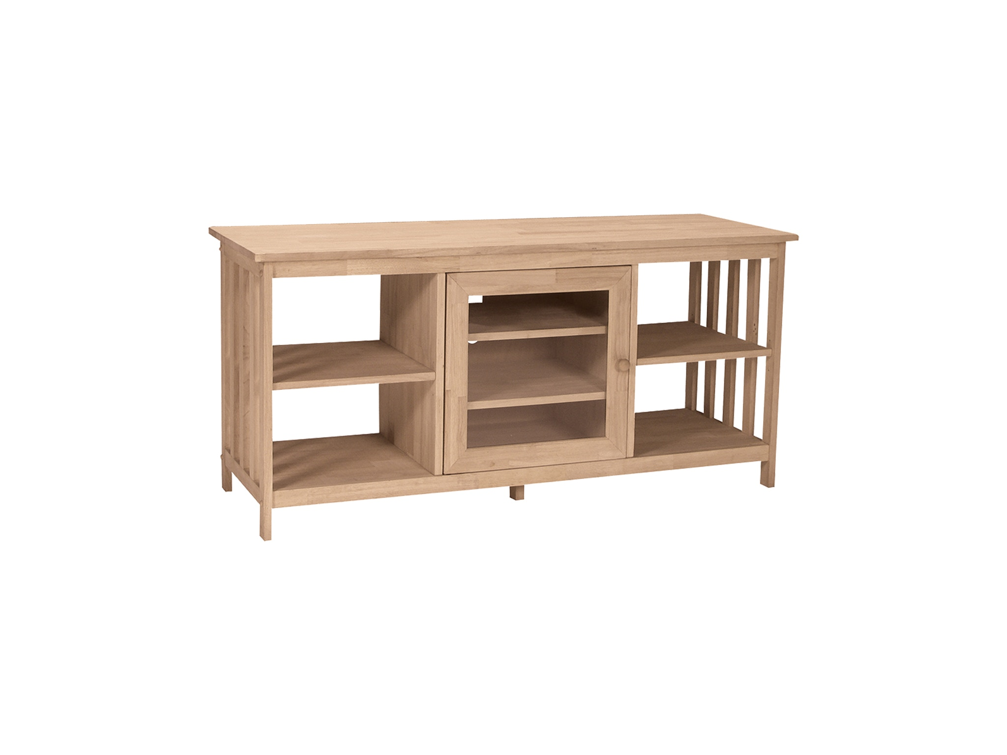 John Thomas Home Entertainment Mission Entertainment Stand<br><br>Four adjustable shelves