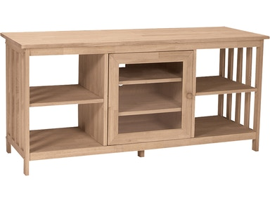 John Thomas Home Entertainment Mission Entertainment Stand<br><br>Four adjustable shelves
