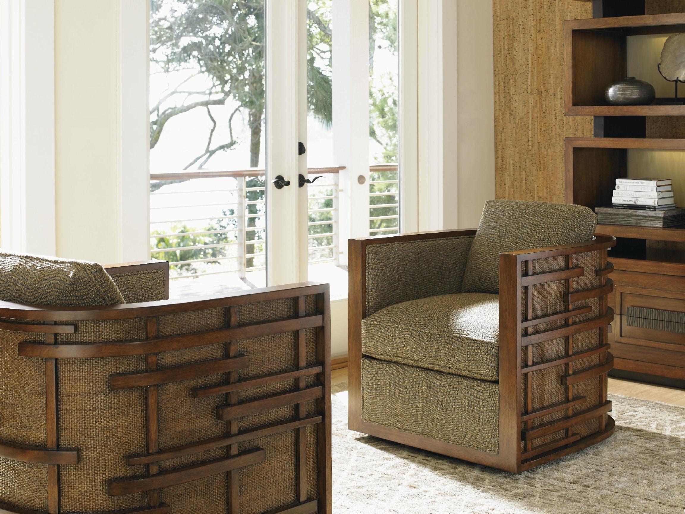 Tommy Bahama Home Living Room Semerang Swivel Chair 1763 11sw Habegger Furniture Inc Berne