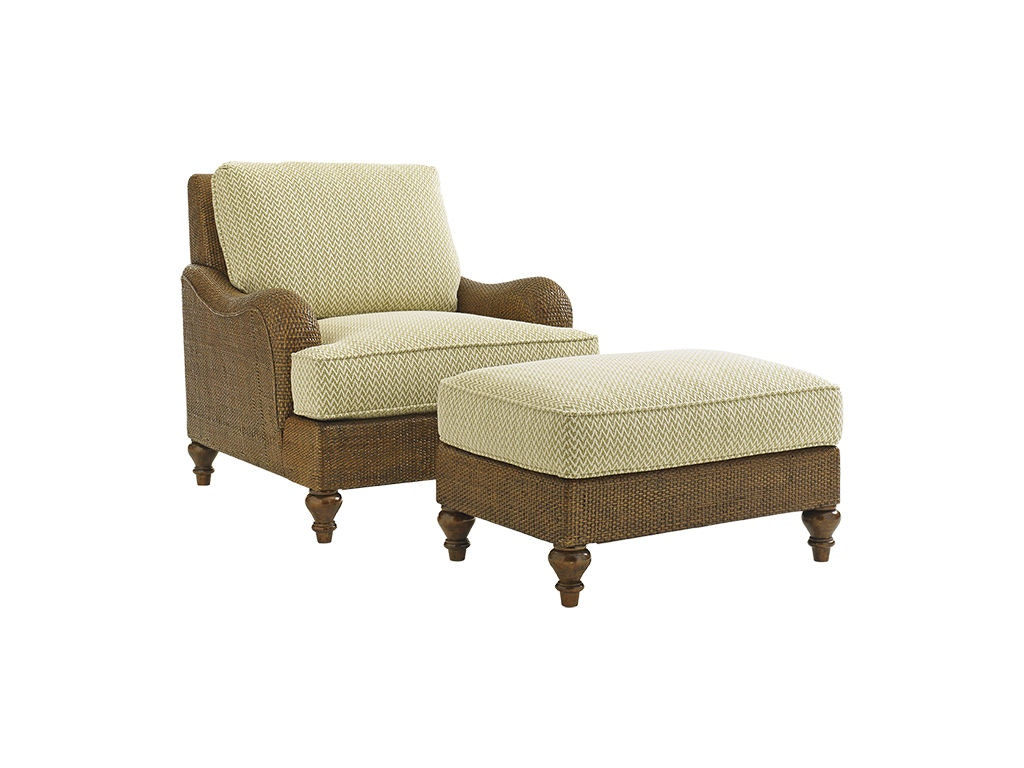 Tommy bahama home living room harborside ottoman 1774 44 for Quality furniture