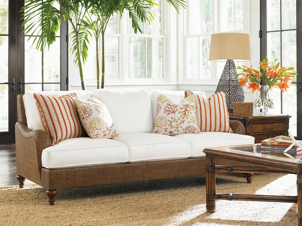 Tommy Bahama Home Living Room Harborside Sofa 1774-33 - Royal ...