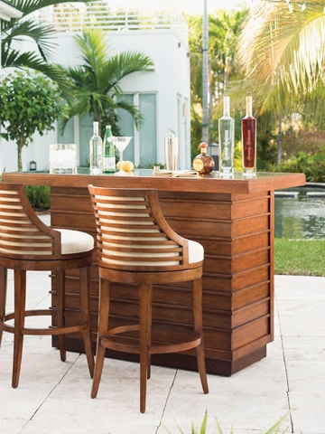 Tommy bahama home bar and game room cabana swivel bar for Home bar furniture in san antonio