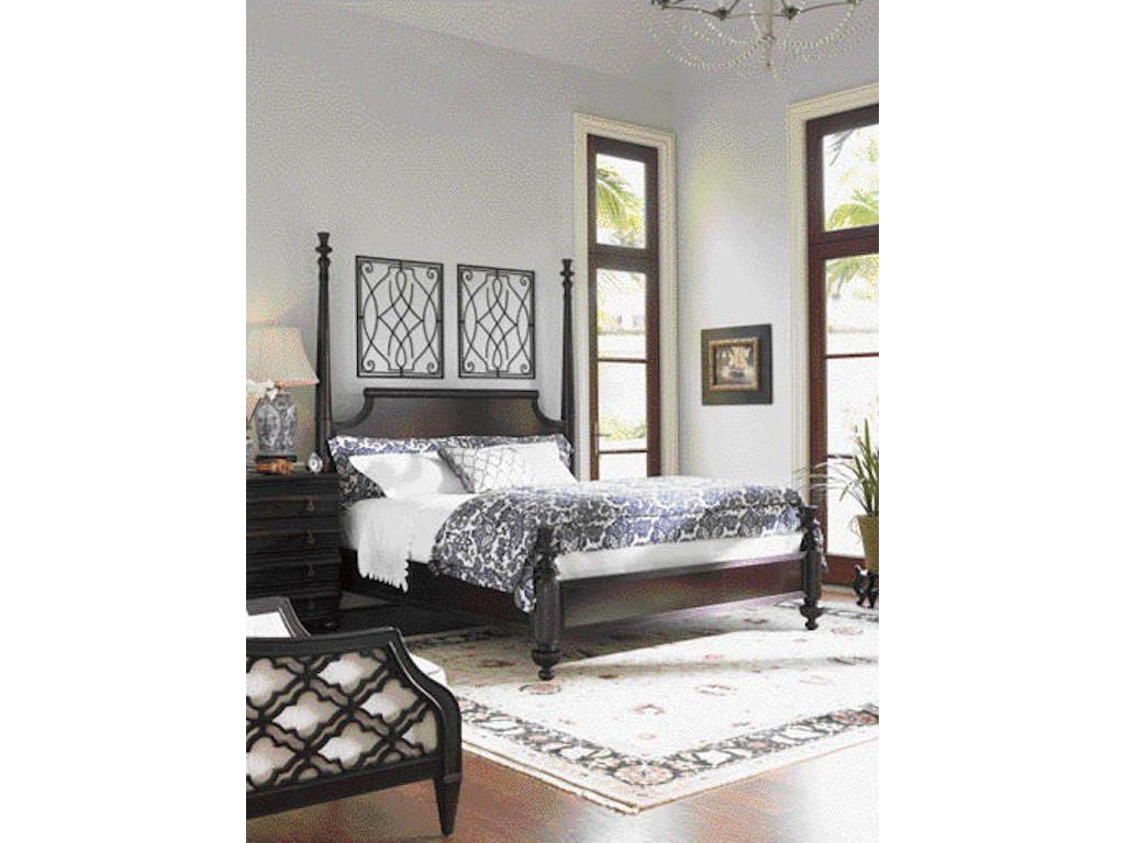 Tommy Bahama Home Bedroom Diamond Head Side Rails and Canopy Frame 6 ...