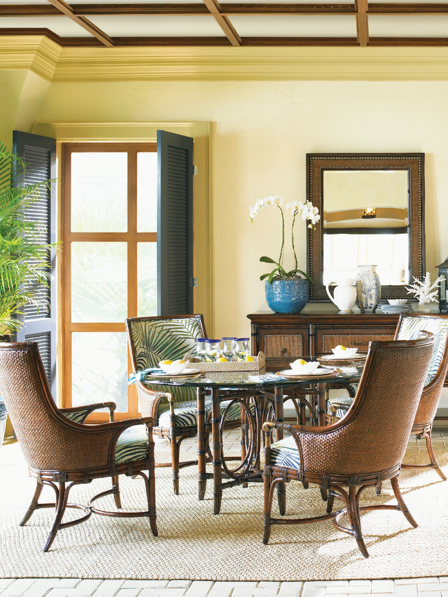 Tommy Bahama Dining Room Set Tommy Bahama Home Dining Room Coral Sea Rattan Dining Table Base