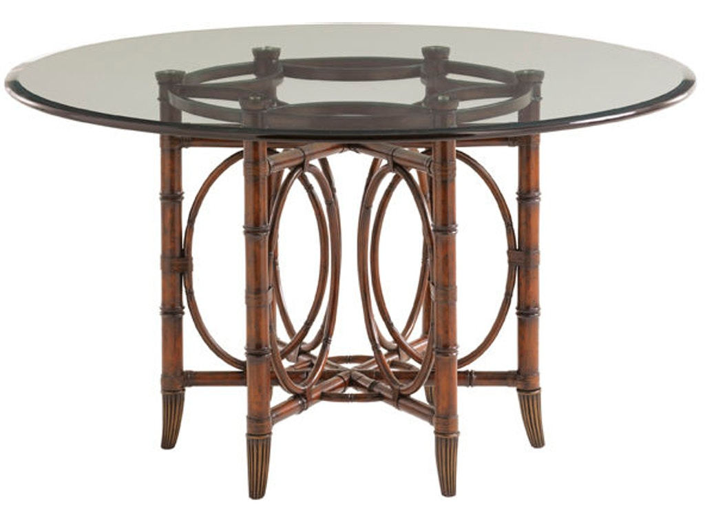 Tommy Bahama Home Dining Room Coral Sea Rattan Dining Table Base 545 ...