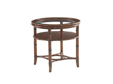 Tommy Bahama Home Marlcopa Round Lamp Table