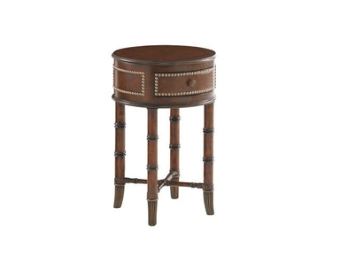 Tommy Bahama Home Bandera Leather Accent Table