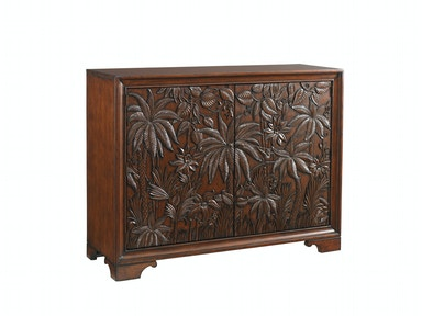 Tommy Bahama Home Balboa Carved Door Chest