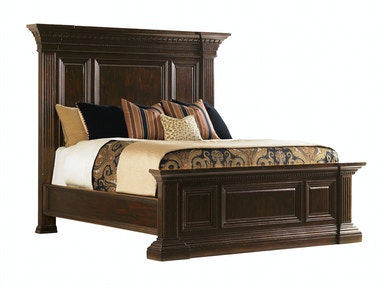 Sutton Place Pediment Bed, 5/0 Queen