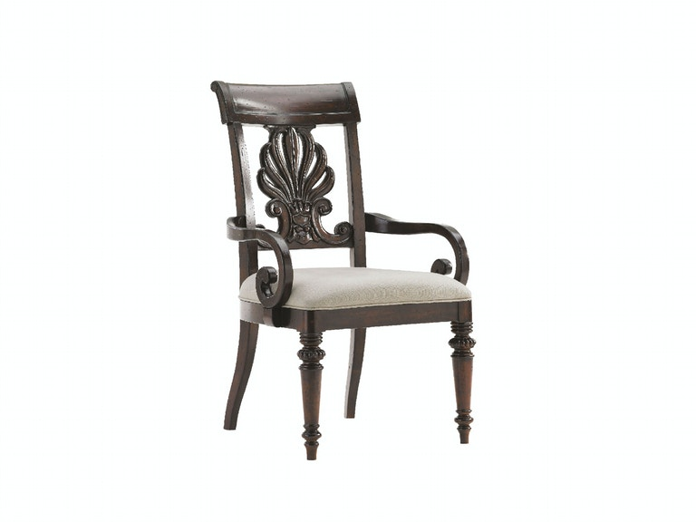 Tommy Bahama Home Chester Carved Arm Chair 548-881-01