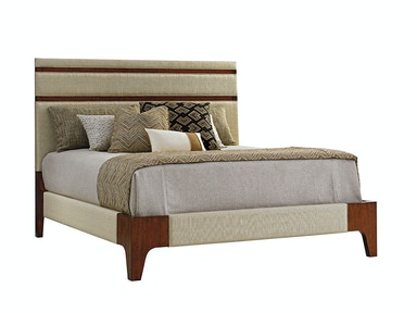 Mandarin Upholstered Panel Bed, 6/6 King