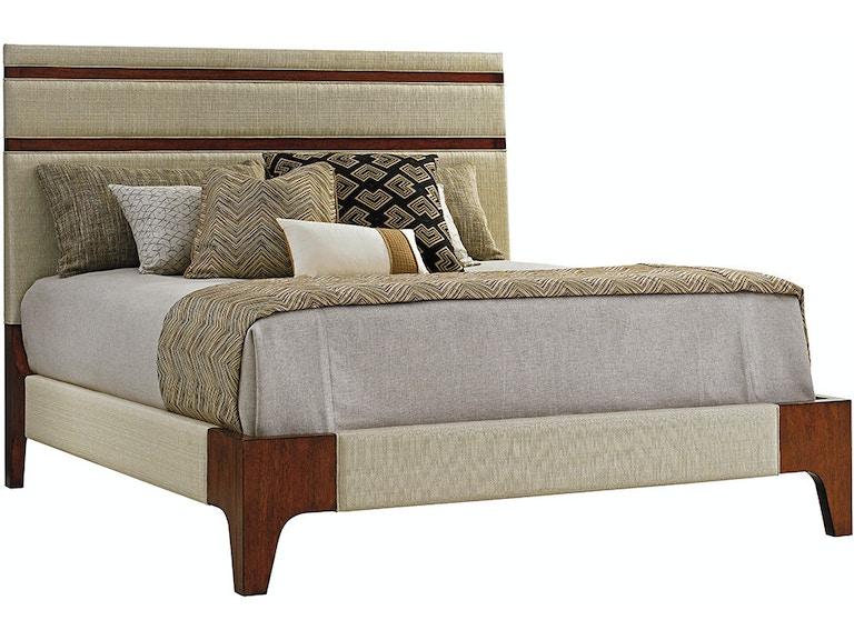 Tommy Bahama Home Bedroom Mandarin Upholstered Panel Bed