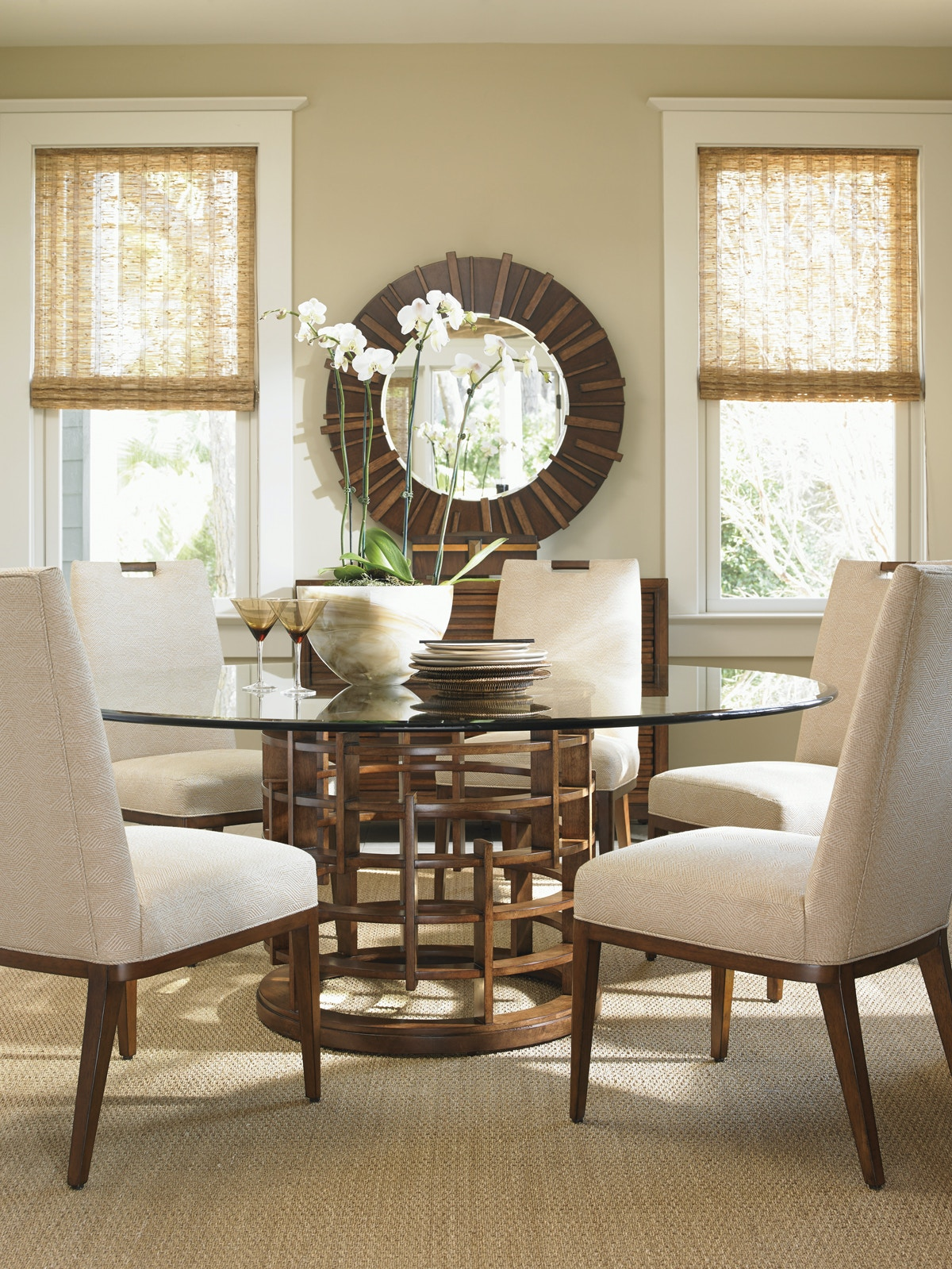 Tommy Bahama Home Dining Room Meri n Round Dining Table Base 556