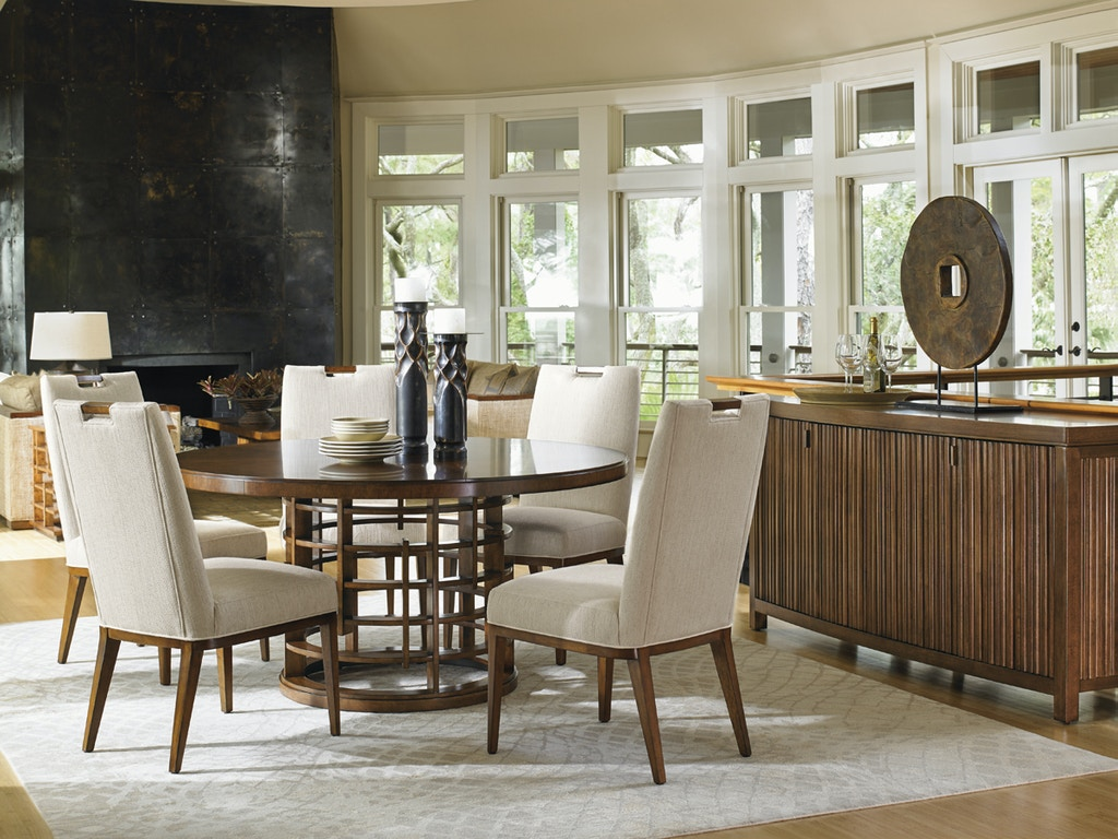 Tommy bahama home dining room meridien round dining table for Dining room tables vancouver wa