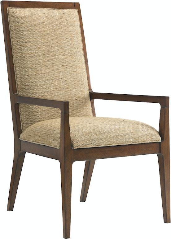 Tommy Bahama Home Dining Room Natori Slat Back Arm Chair