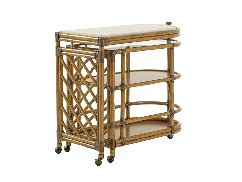 Tommy bahama home bar and game room cable beach bar cart for Home bar furniture in san antonio